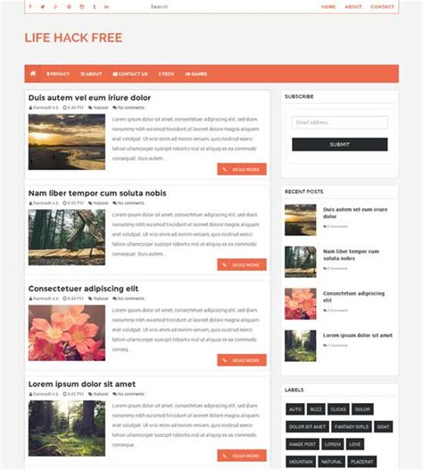 free templates for blogger gallery templates design ideas