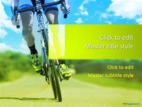Free Cycling Ppt Template Bike Ppt Templates Free