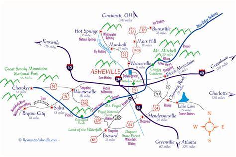 ashville nc map downtown asheville nc map