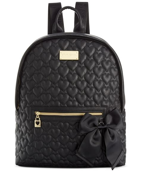 Betsey Johnson Quilted Backpack betsey johnson macy s exclusive quilted backpack in black