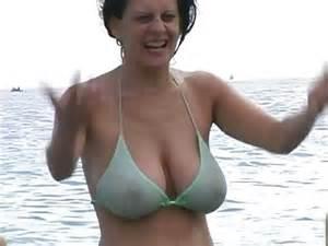 hot milf in bikini at the beach   xhamster