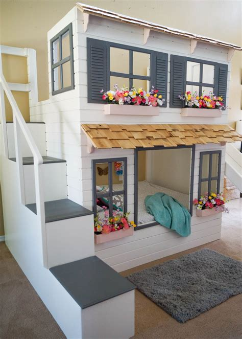 ultimate doll house the ultimate custom dollhouse loft or bunk bed trundle slide step block stairs w