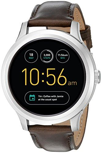Hp Jam Tangan Sony Smartwatch fossil q founder brown leather touchscreen smartwatch jewelry from usa