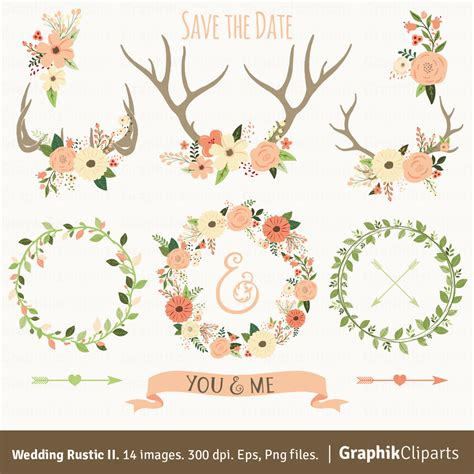 Z Wedding Clip by Rustic Wedding Clipart Ii Quot Wedding Clipart Quot Floral