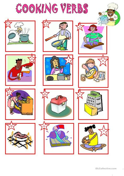 Cooking Vocabulary Worksheet by 67 Free Esl Cooking Worksheets