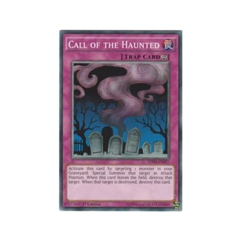 Yugioh Call Of The Haunted Original sdhs en037 call of the haunted yu gi oh from magic madhouse uk