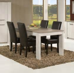 table de salle 224 manger contemporaine coloris andes oak