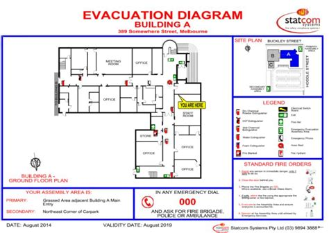 evacuation plan template nsw services evacuation diagrams