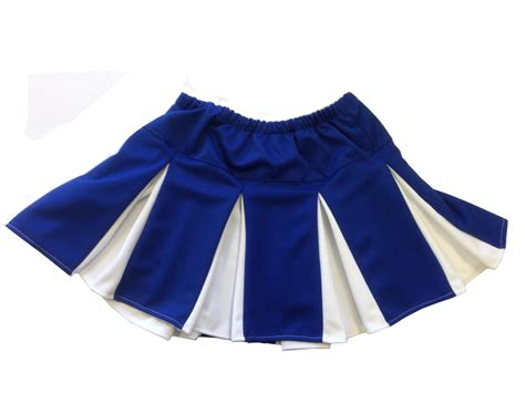 blue and white pleated skirt