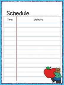 class schedule freebie teacher by the beach