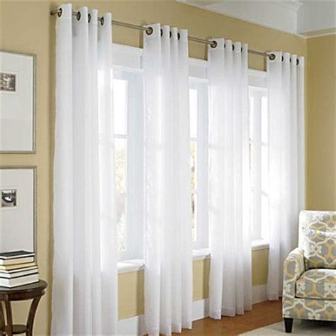 3 panel window curtains thermavoile grommet top curtains window curtain ideas