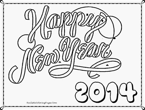 New Years Coloring Pages 2014 happy new year 2014 coloring pages realistic coloring pages