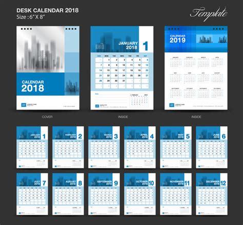 desk calendar template psd 2018 blue desk calendar 2018 vector template vector calendar