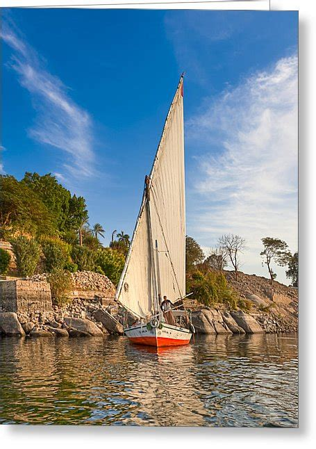 sailboat on the nile traditional egyptian sailboat on the nile photograph by