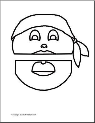 paper bag puppet boy pattern paper bag puppet pirate boy abcteach