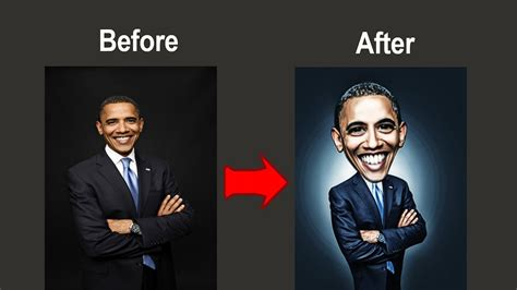 tutorial photoshop obama photoshop tutorial how to manipulate caricature barack