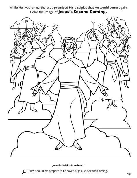 coloring pictures of jesus return the second coming of jesus christ