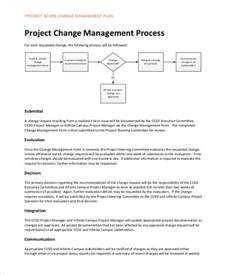 project scope change template sle change management plan 9 exles in word pdf