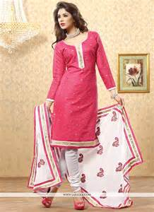 elite pink chanderi churidar salwar kameez