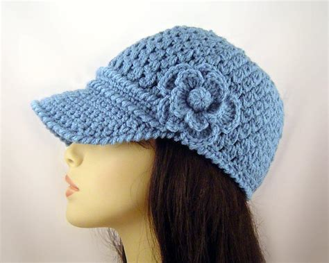 you to see crochet baseball cap with flower on craftsy