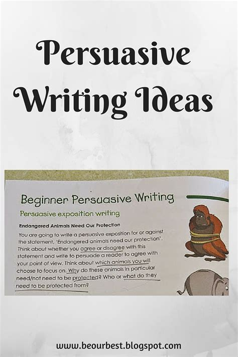 be our best persuasive writing ideas