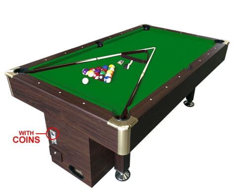 8 ft pool table billiard with coin machine for public