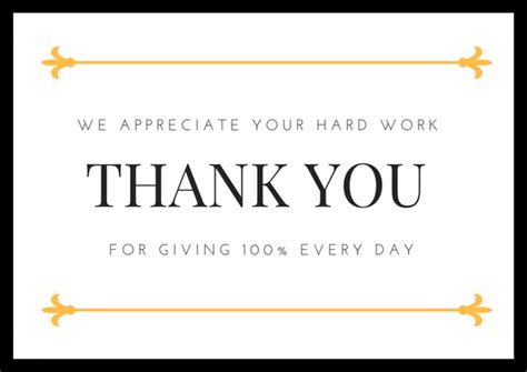 Thank You Card Template To Embed In Email by Employee Appreciation Thank You Cards Free Printables