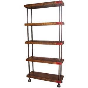 Dept 87 quot industrial wood amp steel shelving storage unit get back