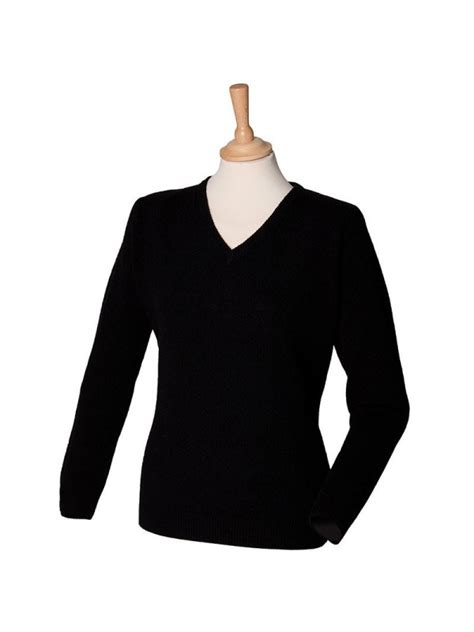 Plain V Neck Sweater plain v neck sweater lambswool henbury