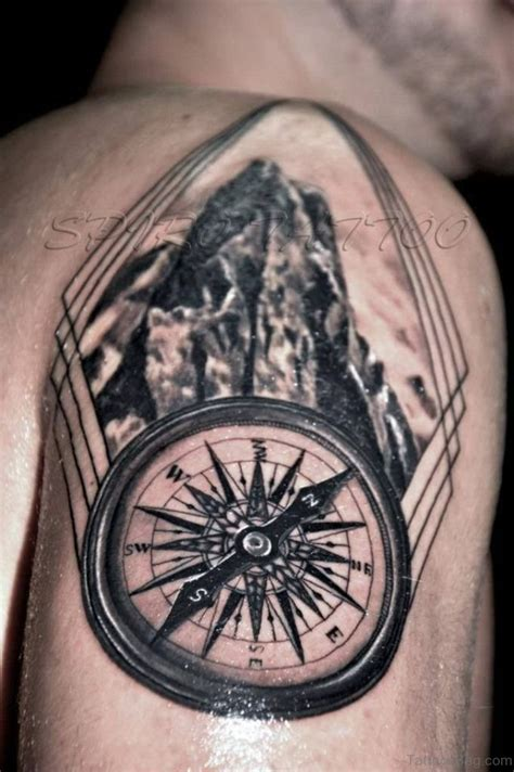 compass shoulder tattoo 63 compass tattoos for shoulder