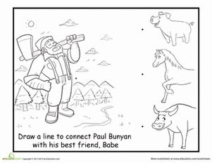 paul bunyan coloring and crafts coloring pages