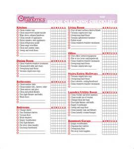free house cleaning templates cleaning list template 10 free word excel pdf format