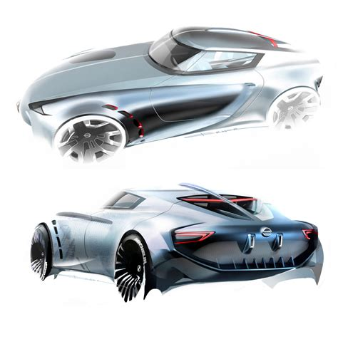 lada gio ponti nissan z concept design sketches by berk erner from