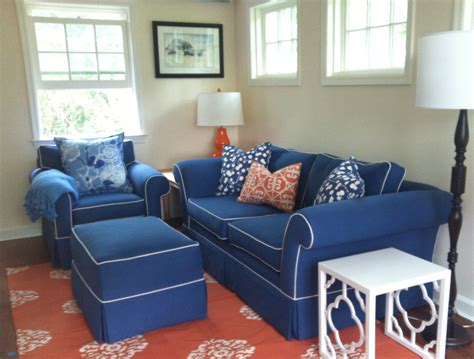 28 best navy blue sofa with white piping aqua blue