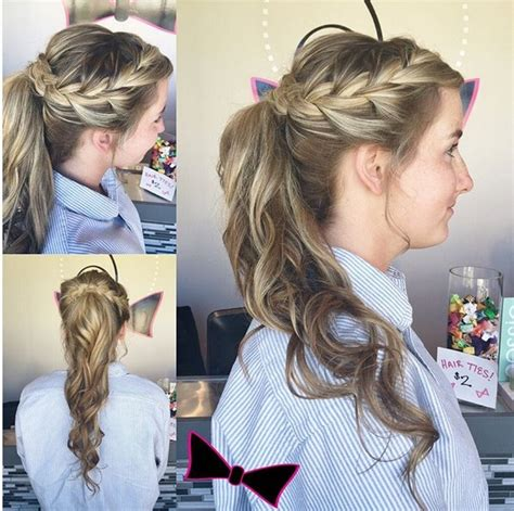 Ponytail Prom Hairstyles by 18 Braided Ponytail Styles Popular Haircuts