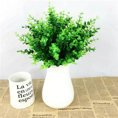 artificial plant decoration home aliexpress com buy 1 fake plant green leaves potted