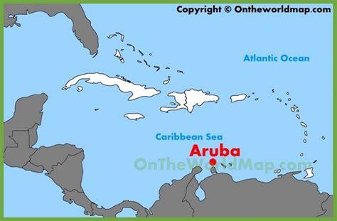 aruba world map aruba location on the caribbean map