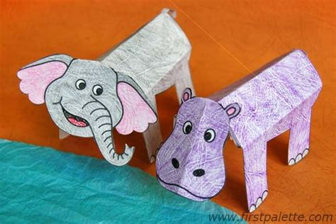 folding paper zoo animals church god s rainbow
