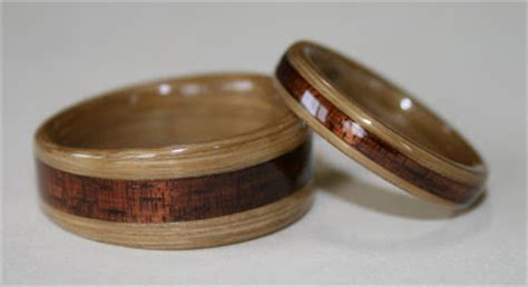 wear the warmth of wood bamboo wedding rings
