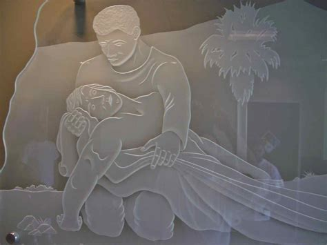Bases For Glass Dining Room Tables by Glass Wall Art Good Samaritan Depicted At Loma Linda