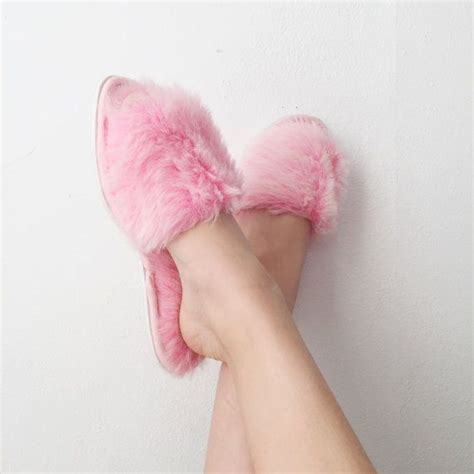 pink fuzzy slippers 17 best images about fluffy slippers on fuzzy