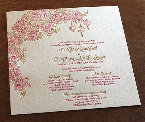 catholic wedding invitation cards letterpress wedding invitations asian collection letterpress wedding invitation