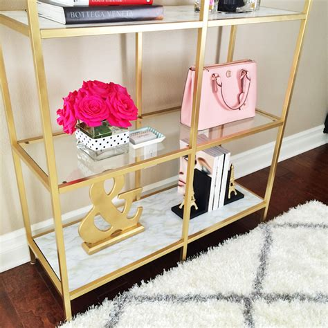 Black Bookcase 2 Shelf Diy Gold And Marble Shelves Bookcase Ikea Hack Stylish