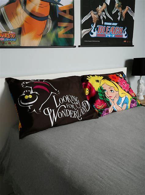 alice in wonderland bed set disney alice in wonderland looking for wonderland pillowcase set hot topic