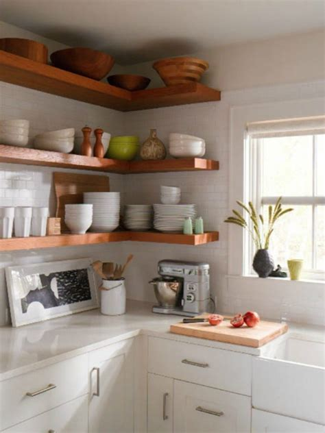 kitchenshelves com 65 ideas of using open kitchen wall shelves shelterness