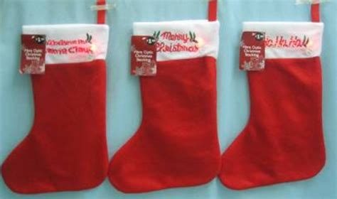 wholesale decorative artificial christmas stocking plain