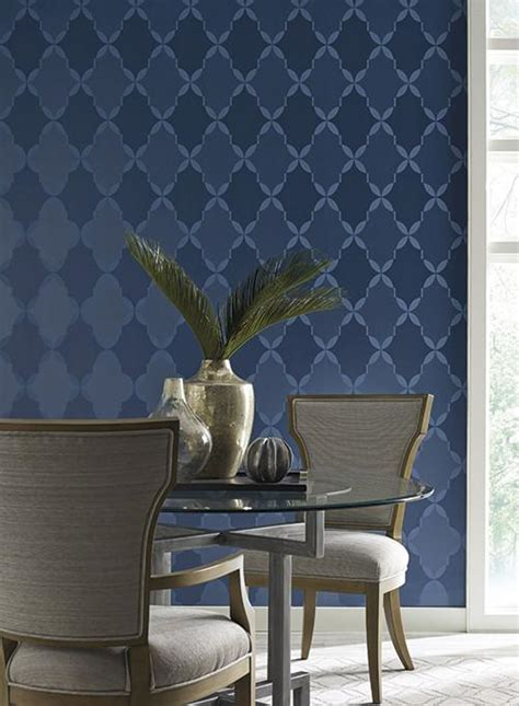 york wallcoverings home design center roxy wallpaper in blue design by candice olson for york