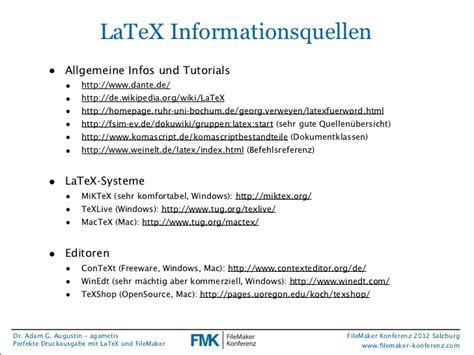 latex tutorial texshop fmk2012 perfekte druckausgabe mit latex und filemaker von