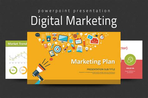 Digital Marketing Strategy Ppt Presentation Templates On Creative Market Powerpoint Advertising Templates