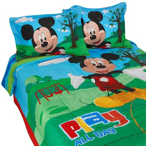 mickey mouse bed set full size cutest mickey mouse bedding for kids and adults too